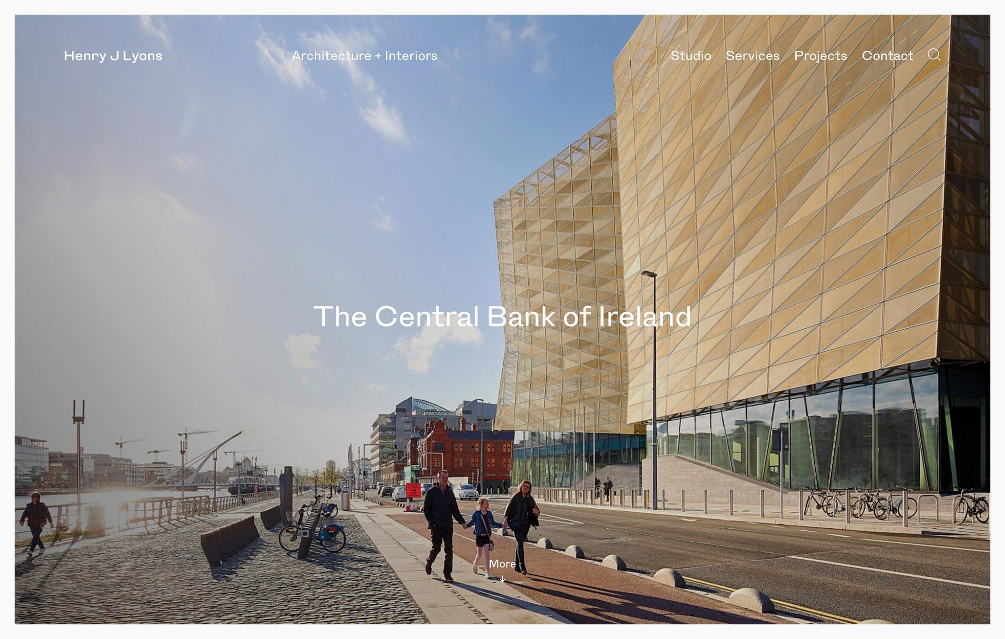 Henry J Lyons - Best Architecture Website of 2019