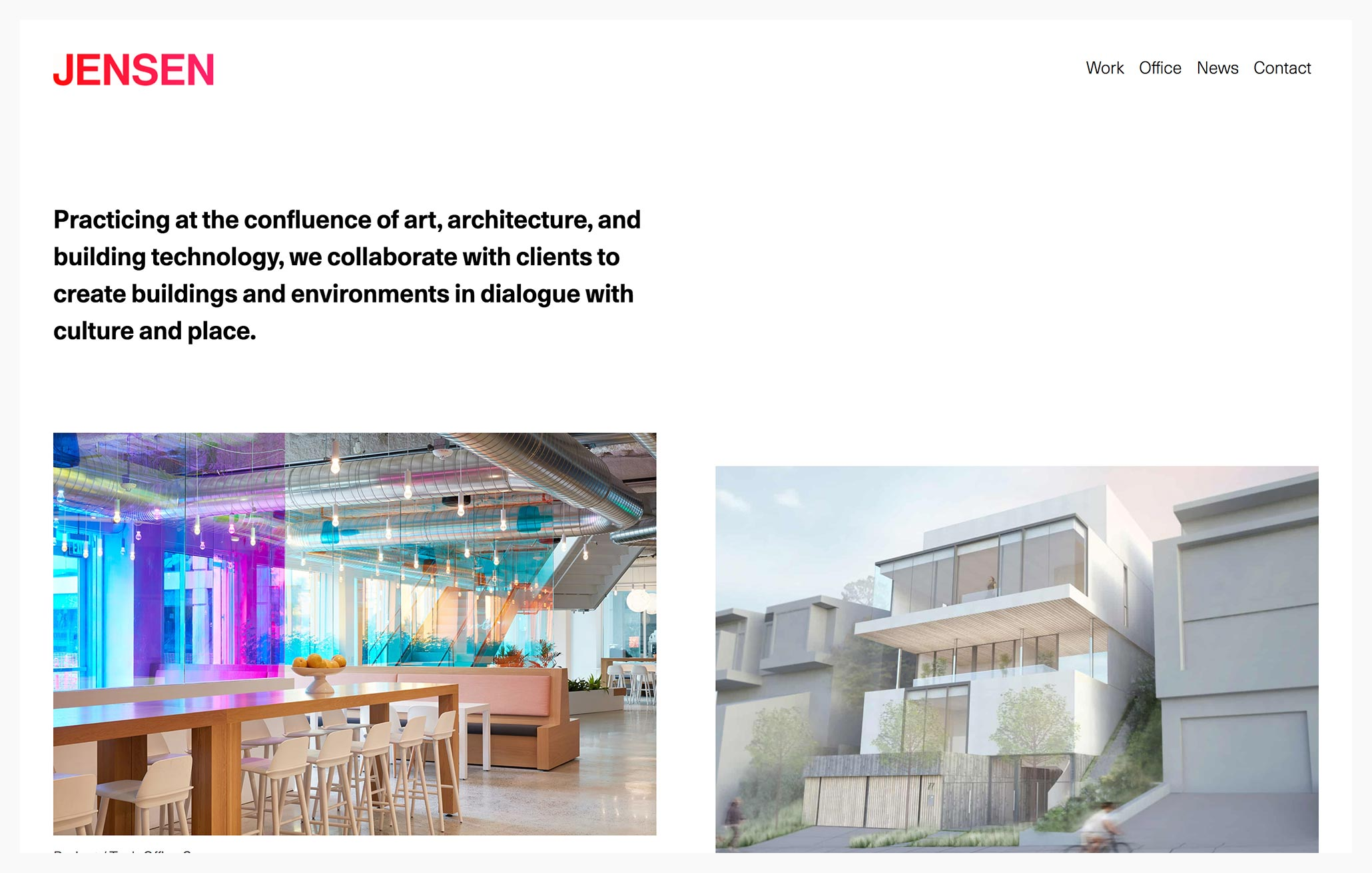 Jensen Architects - Best Architecture Website of 2019