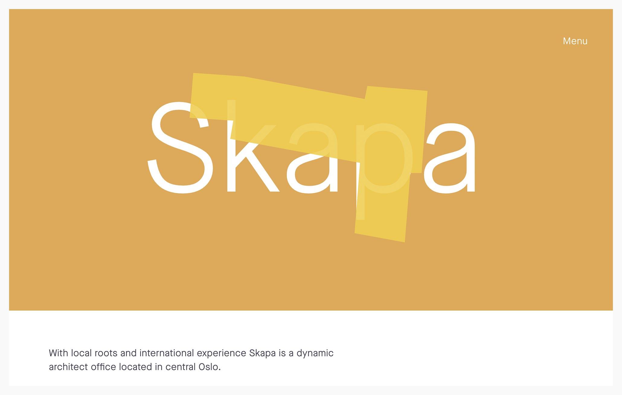 Skapa Architects - Best Architecture Website of 2019