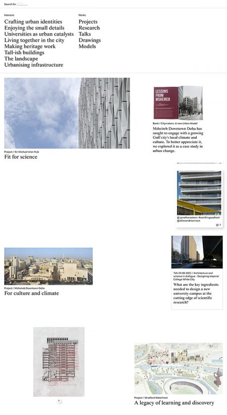 Allies and Morrison Best Architecture Website