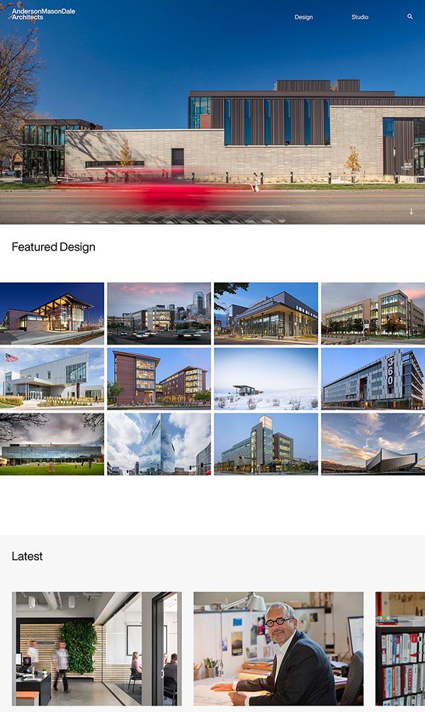 Anderson Mason Dale Best Architecture Website