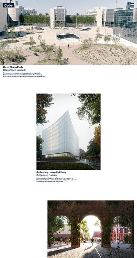 Cobe Best Architecture Website