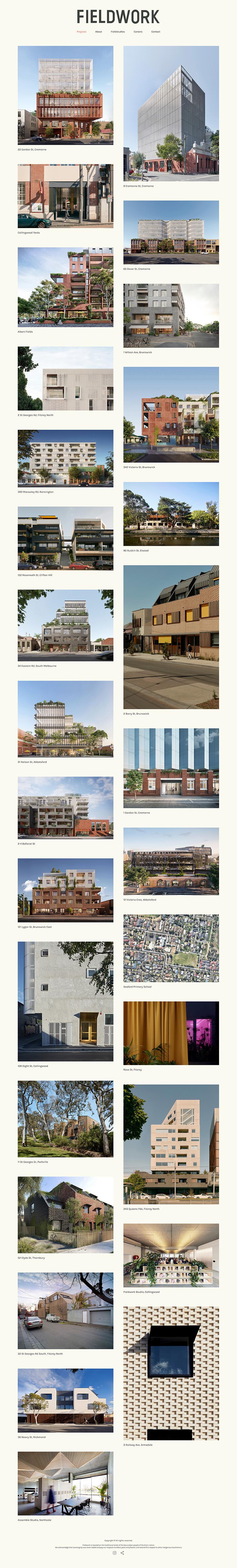 Fieldwork Best Architecture Website