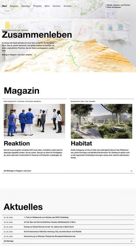 Heinle Wischer Partner Best Architecture Portfolio Website