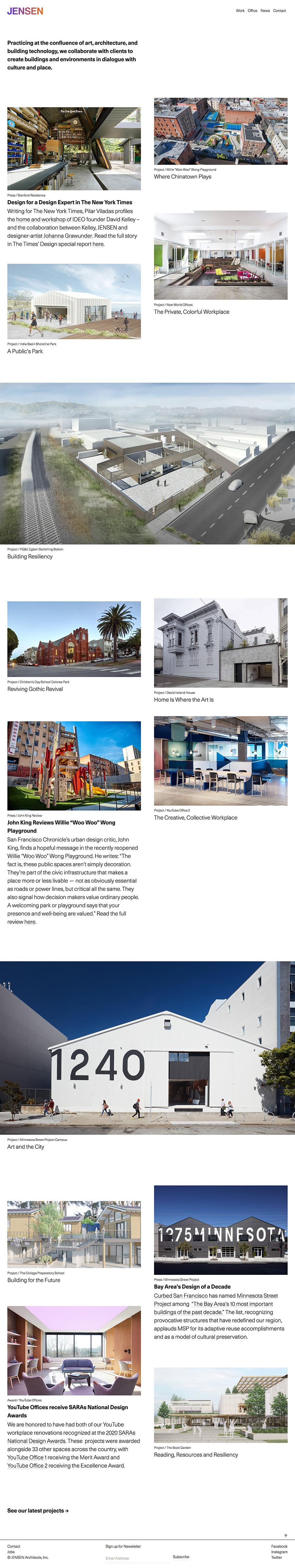 Jensen Best Architecture Website