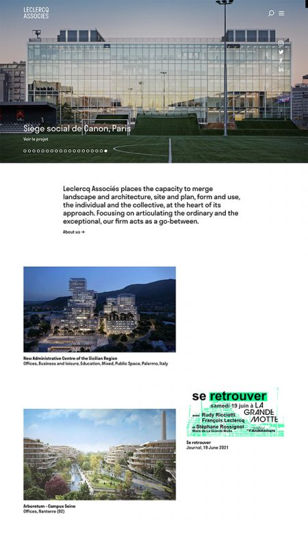 Leclercq Best Architecture Website