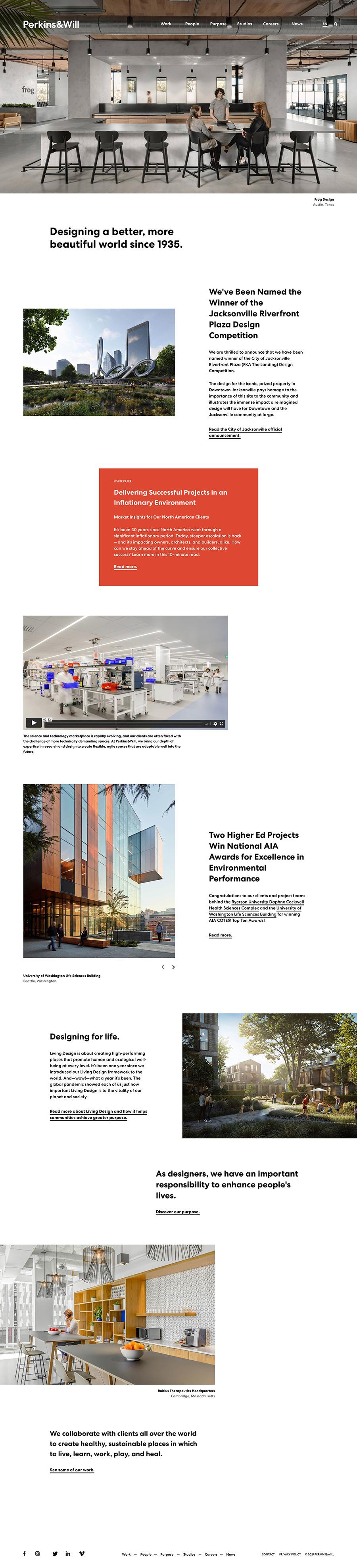 Perkins&Will Best Architecture Website