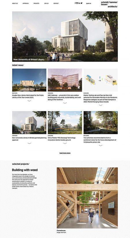 Schmidt Hammer Lassen Best Architecture Website