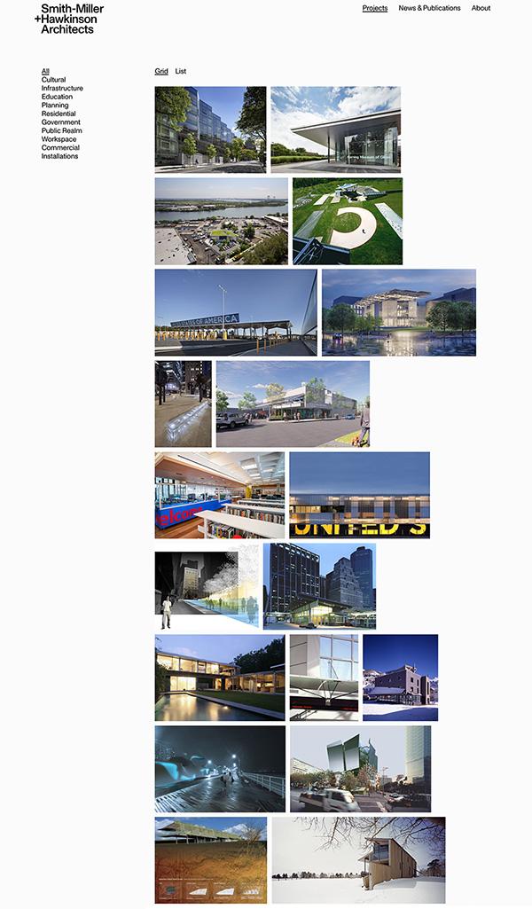 Smith-Miller+Hawkins Best Architecture Portfolio Website