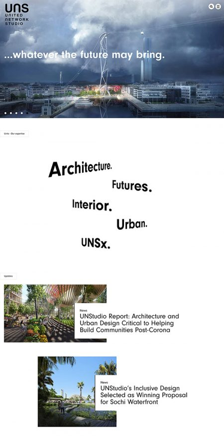 UNStudio Best Architecture Website