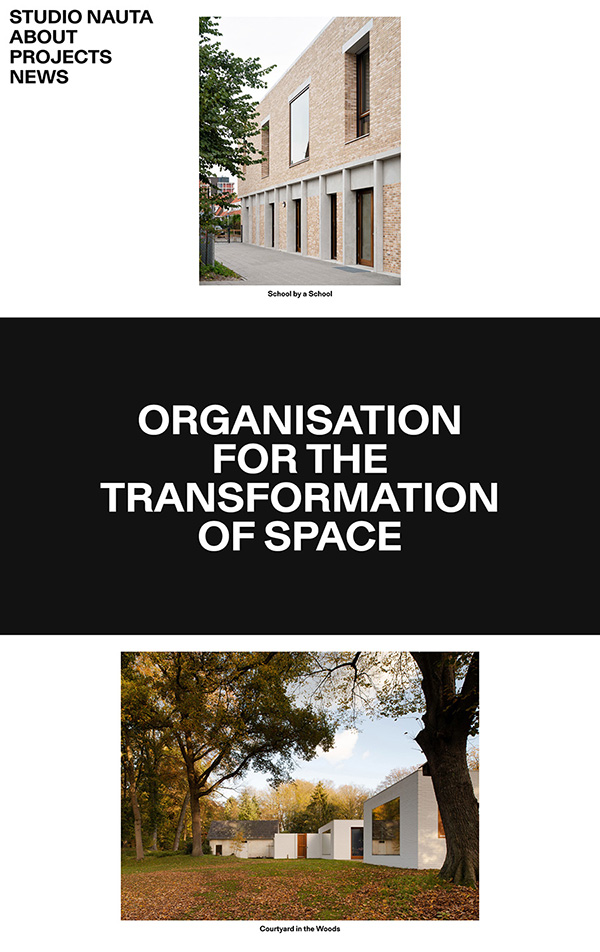 Studio Nauta Best Architecture Website