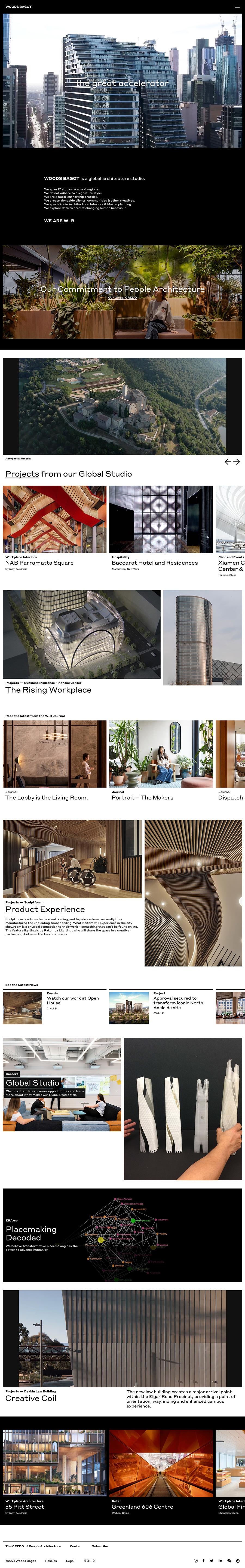 Woods Bagot Best Architecture Website