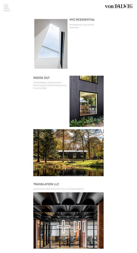 vonDalwig Best Architecture Website